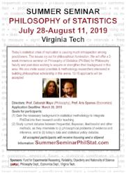 Summer Seminar Philosophy of Statistics flyer